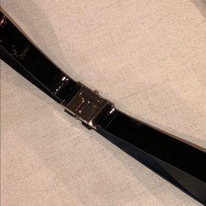 Tory Burch Black Patent Leather Belt